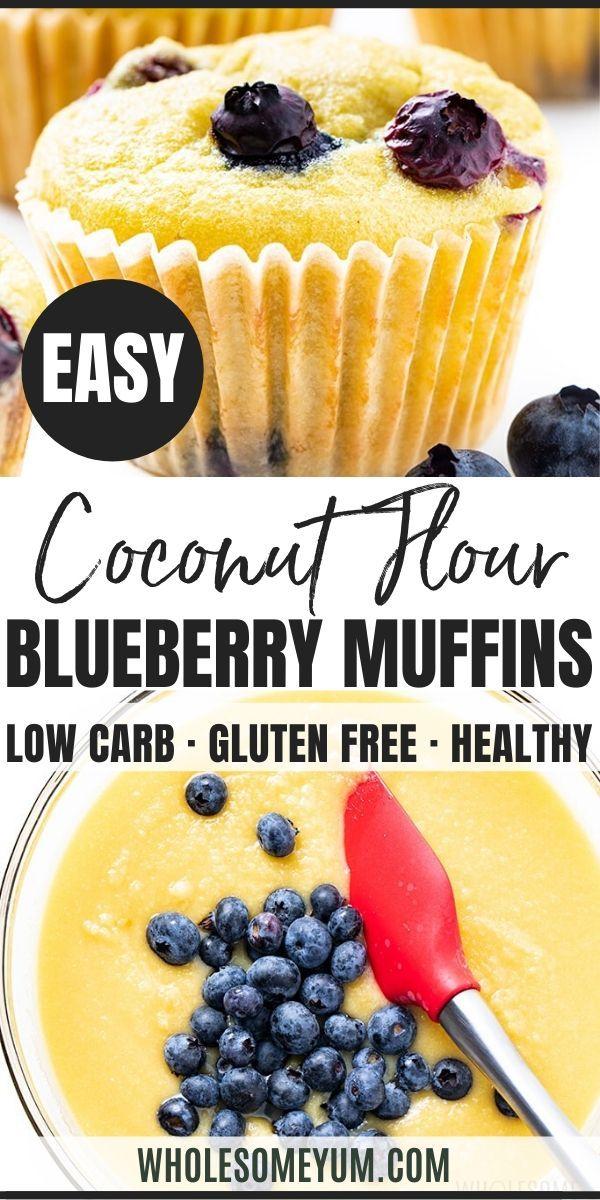 Keto Coconut Flour Blueberry Muffins Recipe Coconut Flour Blueberry Muffins Muffin Recipes Blueberry Low Carb Recipes Dessert
