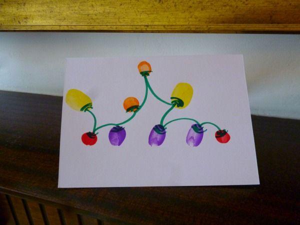 Fingerprint fairy lights: homemade Christmas cards « MarisWorldMarisWorld - LOVE this idea, so simple, but so beautiful