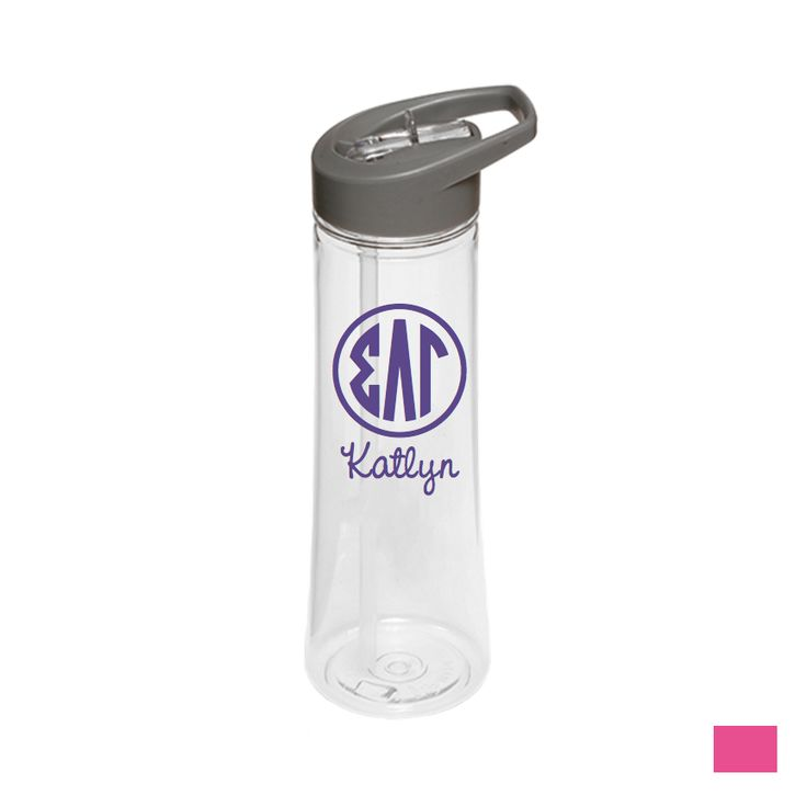 Sigma Lambda Gamm... Buy today! http://manddsororitygifts.com/products/sigma-lambda-gamma-water-bottle-monogram-personalization-optional?utm_campaign=social_autopilot&utm_source=pin&utm_medium=pin