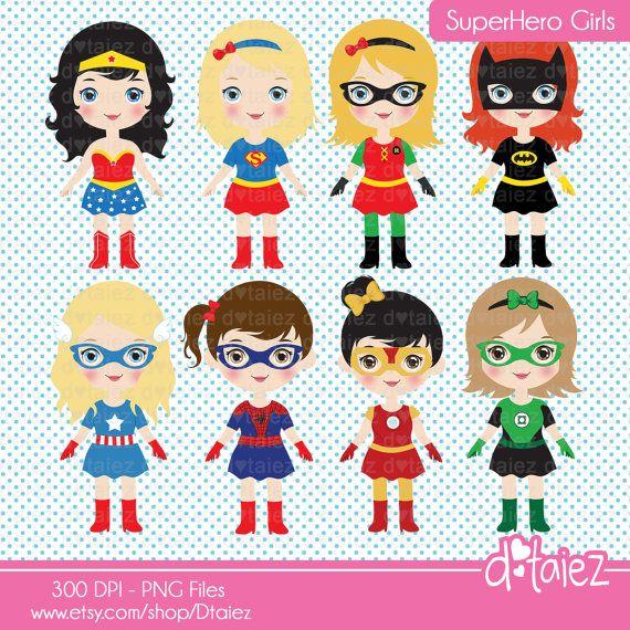 Super Girls comic girl super girl superhero clipart & por Dtaiez