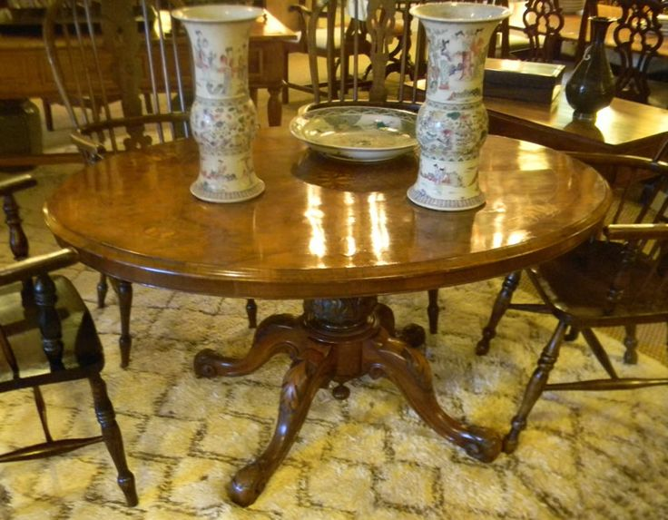 Lovely Burl Walnut Loo Table $4900    Tables U2014 Plantation Antique Galleries, Mobile,  AL
