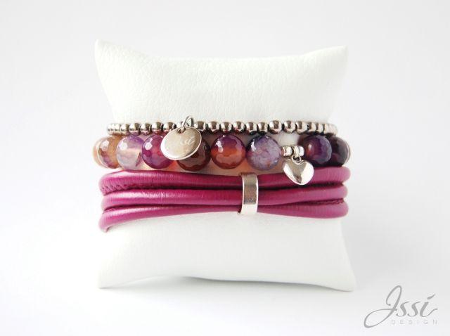 ISSI jewelry  agathe,  leather,  hematite