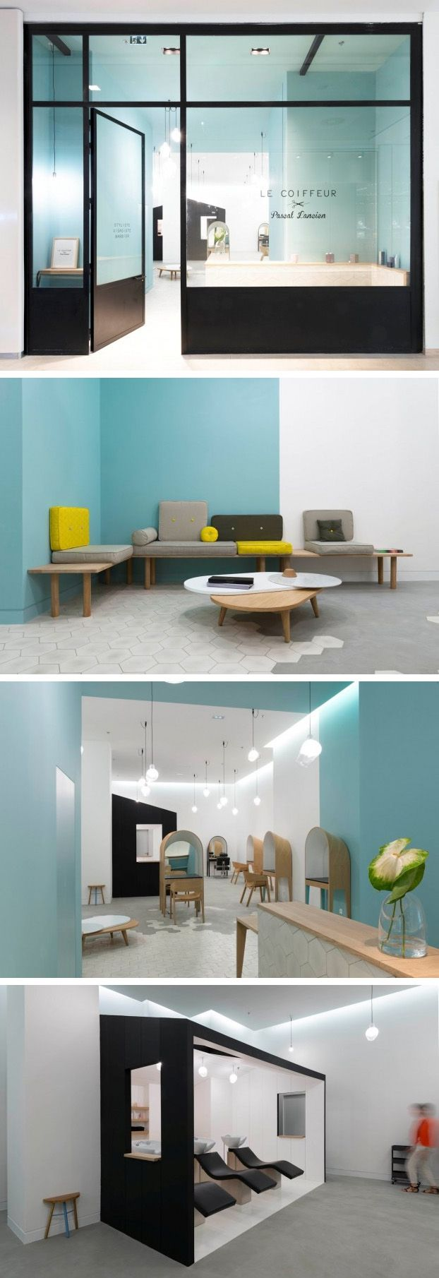Margaux Keller In Association With Architect Bertrand Guillon Have Designed Le Coiffeur A Hair