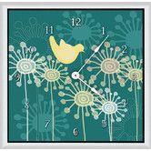 "Found it at Wayfair - Birds and Flowers 20"" Art Wall Clock"