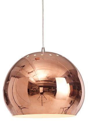 Taklampa i kopparfärgad metall.  #elloshome #belsyning #kopparlampa