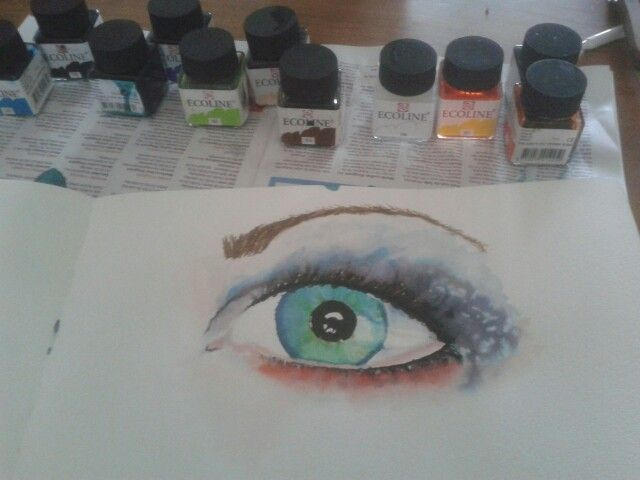 Practicing with ecoline