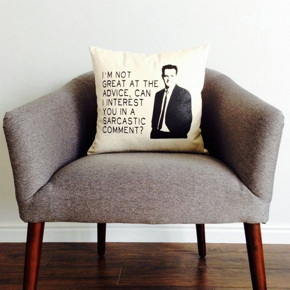 A throw pillow from the Chandler Bing therapy couch. | 25 Gifts For The Most Sarcastic Person You Know