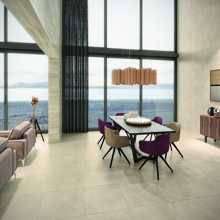 Urban by Revigres is a full body porcelain stoneware collection available in five neutral colors. Inspired by the cement and concrete landscapes of urban environments, this collection conveys a sober and modern image. Urban is appropriate for indoor and outdoor, residential and public spaces, creating unique environments. #tiles #floor