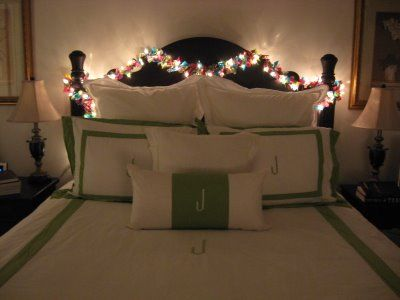 christmas decor in my bedroom. must do it this yearScrappy Ribbons, Whitney Caroline, Christmas Lights, Lights Garlands, Caroline Design, Scrap Fabric, Christmas Garlands, Fabric Scraps, Ribbons Garlands