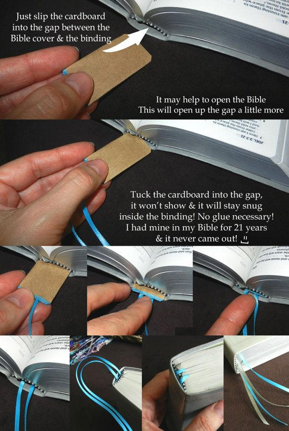 Simple Ribbon Bookmarks, NWT Ribbons, JW, Bookmarks, Bible, Books, All Colors, Fits into binding, New World Translation