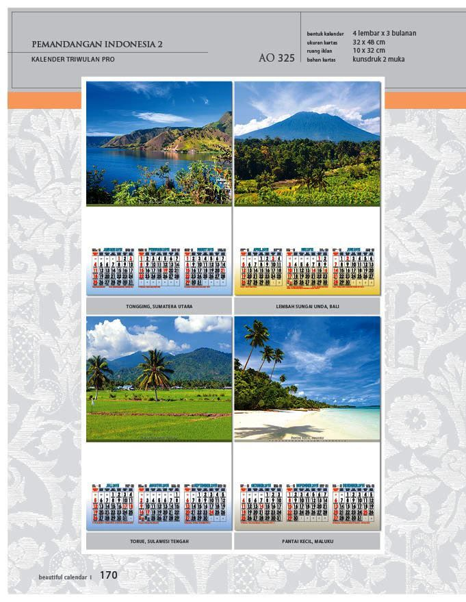 Kalender 2015 AO - Triwulan 3 Bulanan - Free Download Jpg Thumbnails Quality Preview - Tema Foto Gambar Pemandangan Alam Indonesia 2