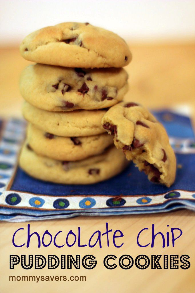 chocolate chip pudding cookies choc chip chocolate chips soft ...
