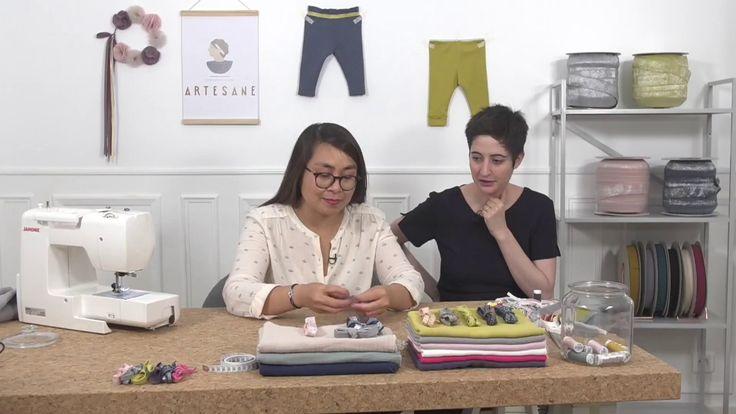 Apprendre à coudre les élastiques - la couture en vidéo (bande-annonce) Cours de couture vidéo pour débutants et intermédiaires avec les élastiques France Duval Stalla et Valérie par Artesane.