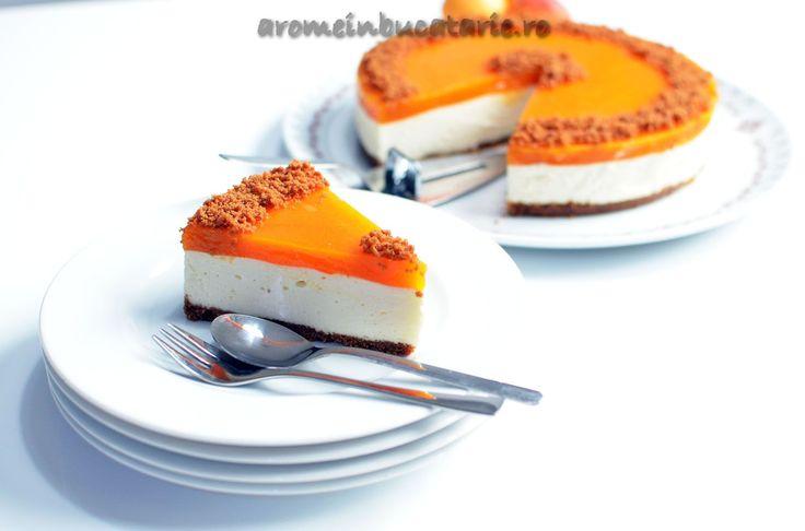 Cheesecake cu jeleu de caise