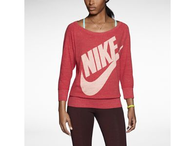Nike gym vintage crew women 39 s long sleeve top workout for The 8 boutique b b barcelona