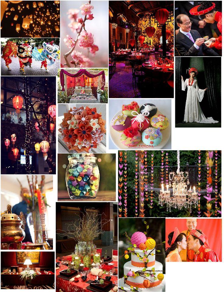 vietnamese & other asian influences wedding theme