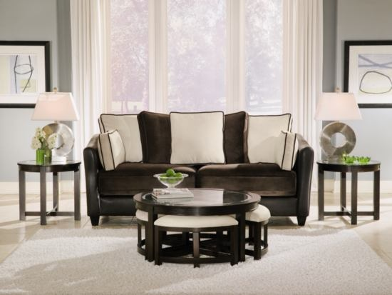 #ValueCityPinToWin Four Corners Cocktail Table With 4 Benches   Value City  Furniture