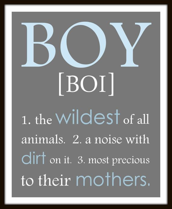 BOY definition  a noise with dirt on it print  by ThePrintsCess