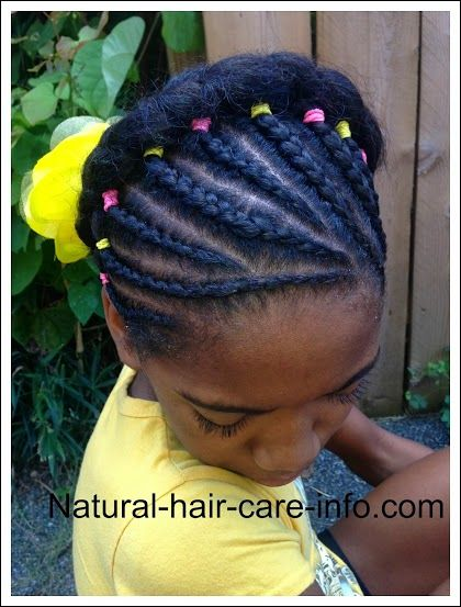 Beautiful cornrow style for tween.  Perfect for Easter or special occasion