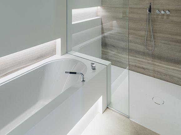 carrelage salle de bain de sol faiences - Carrelages Brun 70s Salle De Bains