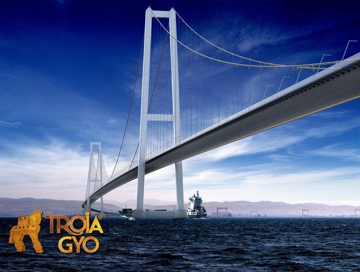 1915 Çanakkale Köprüsünün dünyanın en uzun asma köprüsü olması planlanıyor. Heyecanla bekliyoruz.