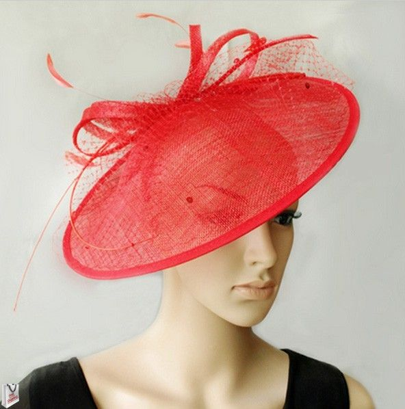 """""""Penelope"""" Large Red Hat Fascinator $89.95 includes FREE Shipping Australia Wide"""
