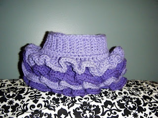 Baby Tutu FREE CROCHET PATTERN!  Great pattern!   I made mine too large for a baby, so it's  being made into a purse. :)