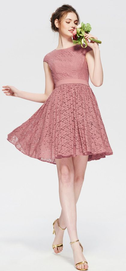ba200e884ad dusty rose bridesmaid dresses short modest bridesmaid dress for summer
