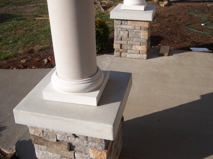 Stone Column Base : Best images about wood porches on pinterest rope