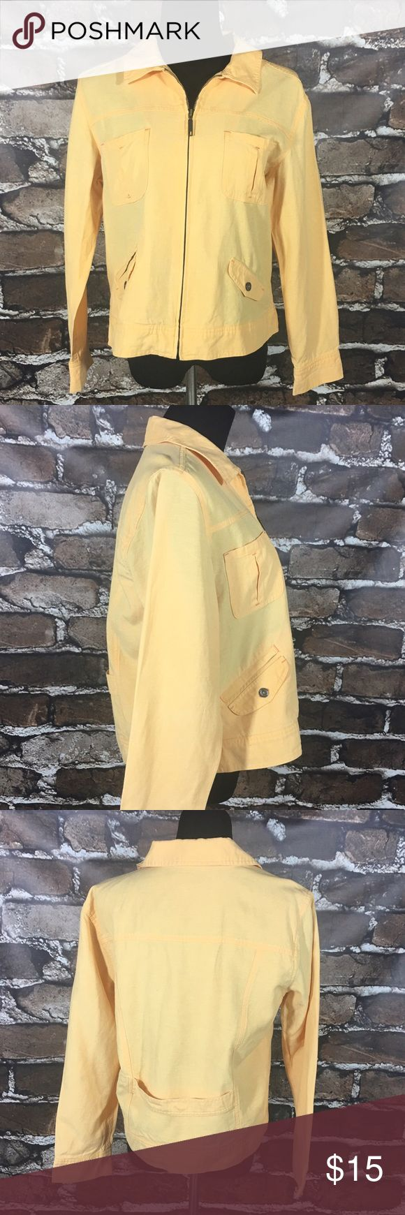 J. Jill Sherbet Orange Jacket Women's jacket from J. Jill. Sherbet orange. Long sleeve. Zip up. Collared. Lightweight. Women's size medium.  52% lyocell, 30% linen, 18% cotton. Lining: 100% cotton.  No rips, tears, stains, or flaws. From a smoke free home.  B022 J. Jill Jackets & Coats