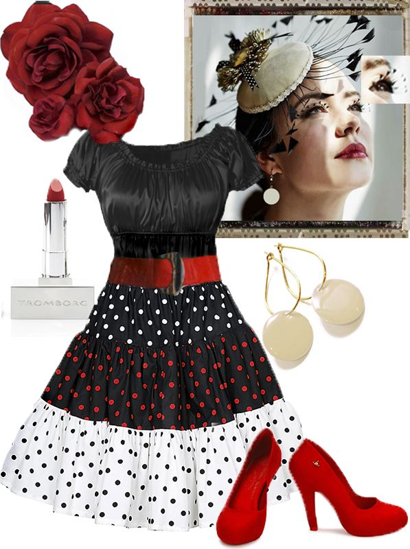 Happy New Year! - Our idea of a delicate and feminine party outfit. Ecoutures 3-Dot Strut-skirt. Accessories to lift the outfit: Our earrings and red lipstick from Tromborg with organic and natural ingredients. shoes from Vivienne Westwood + MELISSA (Sustainable footwear label). Eyelashes and a fine hat with feathers!