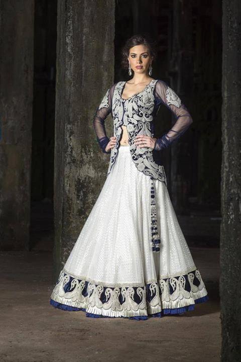Elegant white lehenga