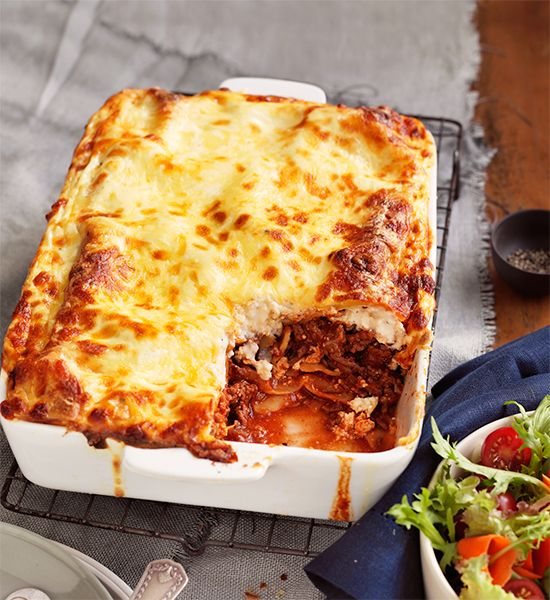 Beef and ricotta lasagne with garden salad: This beef and ricotta lasagne is the perfect family dish for winter. You can keep this lasagne, covered, in the fridge for up to 2 days. Or wrap individual serves in plastic wrap, put in airtight containers, then freeze for up to 6 months.