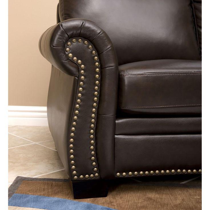 Abbyson living westbury leather sectional sofa for Westbury leather sofa