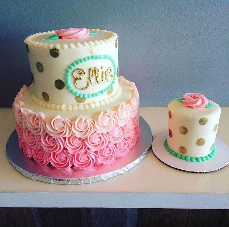1st birthday cake plus smash cake