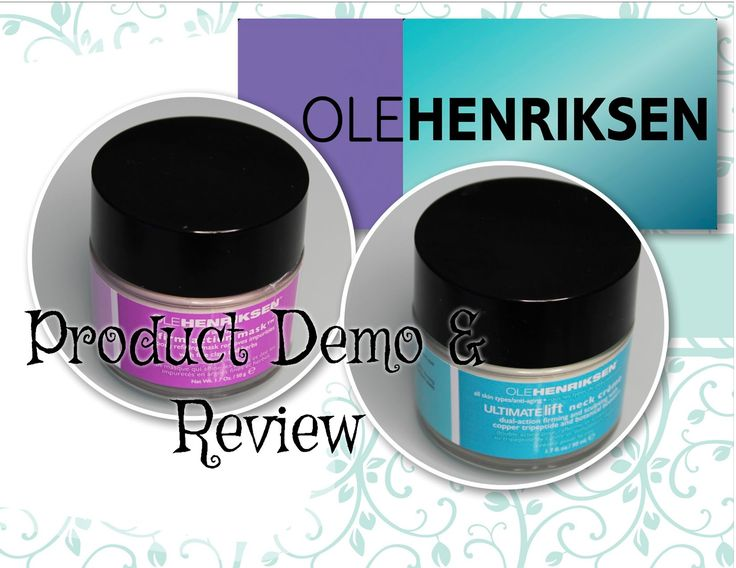 Ole Henriksen Product Review & DEMO!