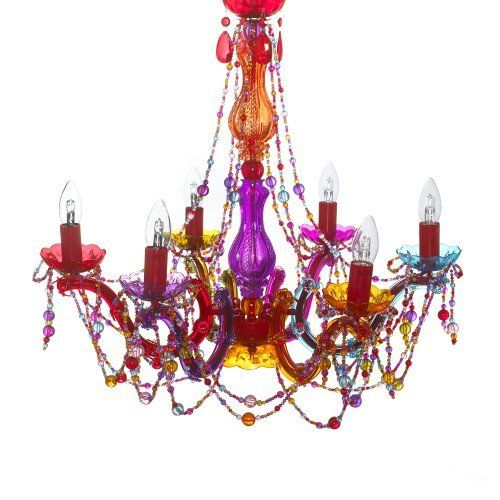 195 best lighting images on pinterest applique bright walls and gypsy chandelier pendant ceiling light multi coloured large draping beads by present time http mozeypictures Choice Image