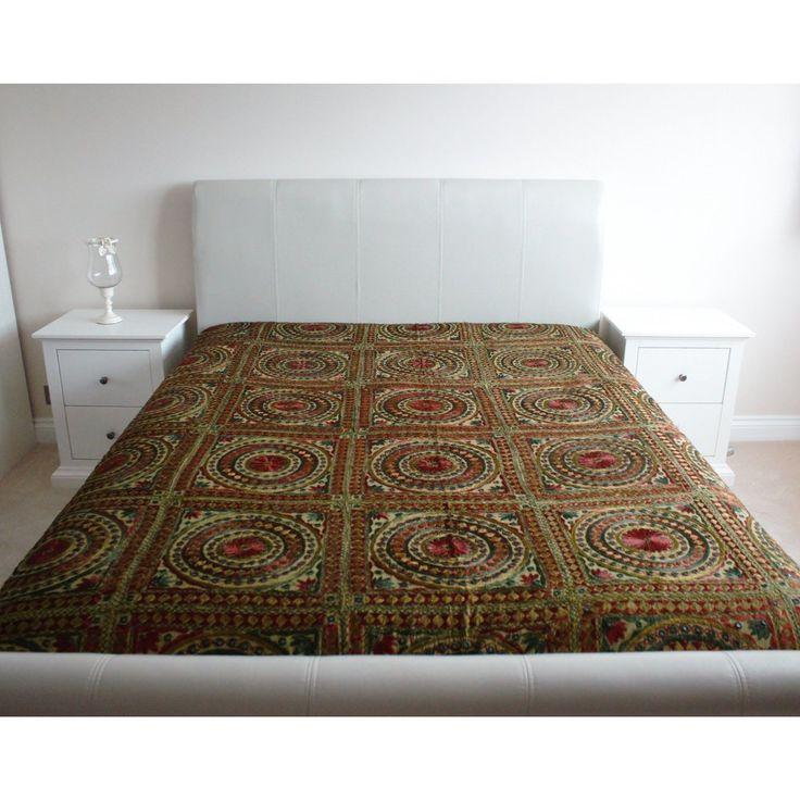 Multicoloured Rawawork Cotton Flat Bed Sheet - Super King
