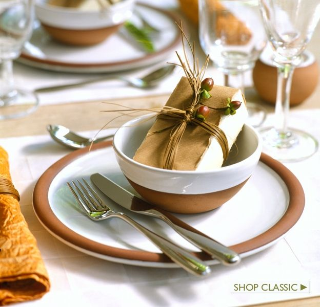 The Classic Range: Cereal Bowl and Dinner Plate.  FREE SHIPPING from stephenpearce.com this holiday season.
