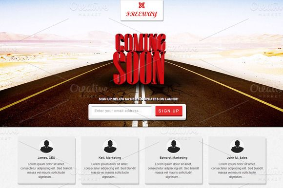 Check out Freeway -Responsive Coming Soon Page by Amey on Creative Market