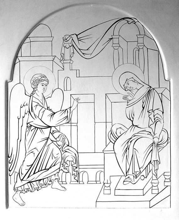 Прориси / Фотоальбомы / Слово - изографам Annunciatie
