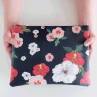 무궁화 플라워 패턴 클러치백 clutch bag,korean,cat,korean tradition pattern, Mugunghwa flower pattern