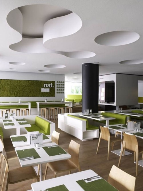 Modern Fast Food Restaurant Interior Decor With Minimalist Furniture Design    Ikrunk.Com