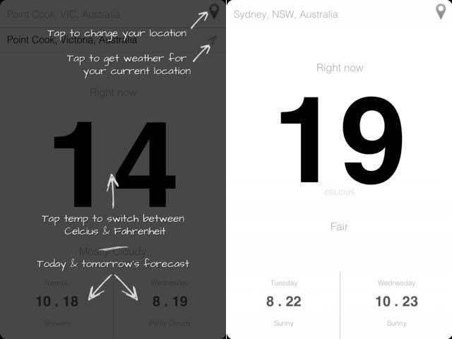 Weather App YoWeather for iPhone and iPod Touch