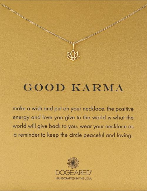 Good Karma Lotus Necklace. Brings positive energy. Necklace with meaningful message. Christmas gifts for her. #inspiration #lifestyle