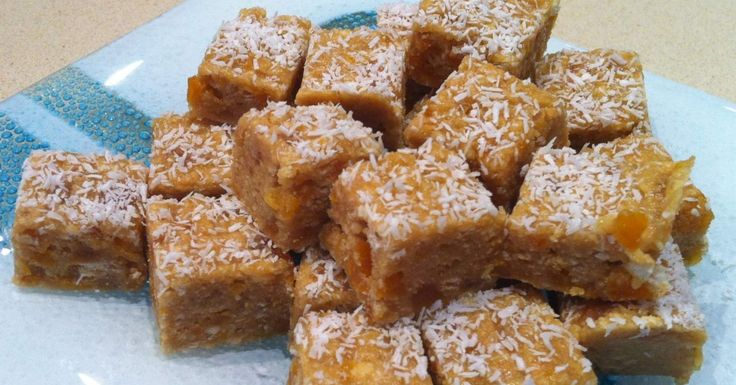 No-Bake Apricot Fudge Slice