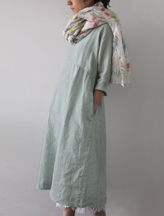 [Envelope Online Shop] Anasta Lisette dress.  Mint green linen...