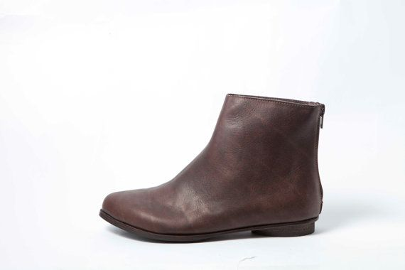 Knöchel Stiefel Damenschuhe braun / Classic von WalkByAnatDahari