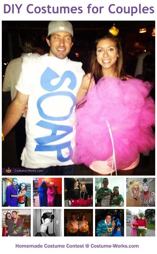 DIY Costumes for Couples - a lot of homemade costume ideas!