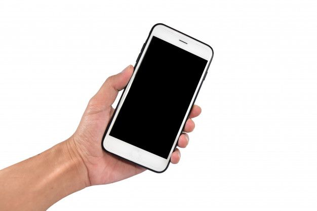 Hand Holding Smartphone Or Mobile Cell Phone With Blank Screen Smartphone Phone Mobile